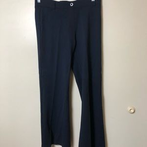 Betabrand Navy Blue Yoga Dress Pants LargenPetite